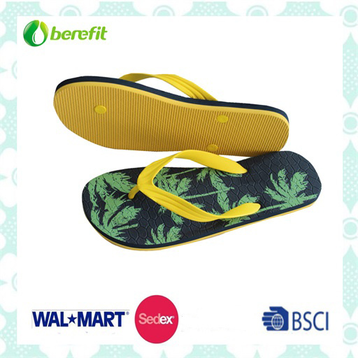 Rubber Sole and Rubber Straps, Men′s Flipflops