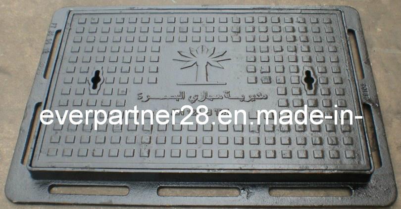 D400 Ductile Iron Casting Rectangular Manhole Cover Frame