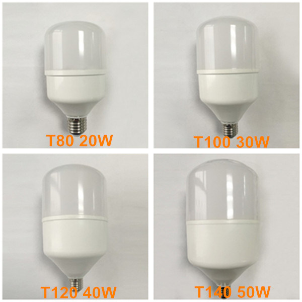 High Power T80 T100 T120 T140 LED Illunimacion 50W 40W 30W 20W E27 Lampara LED Bulbo