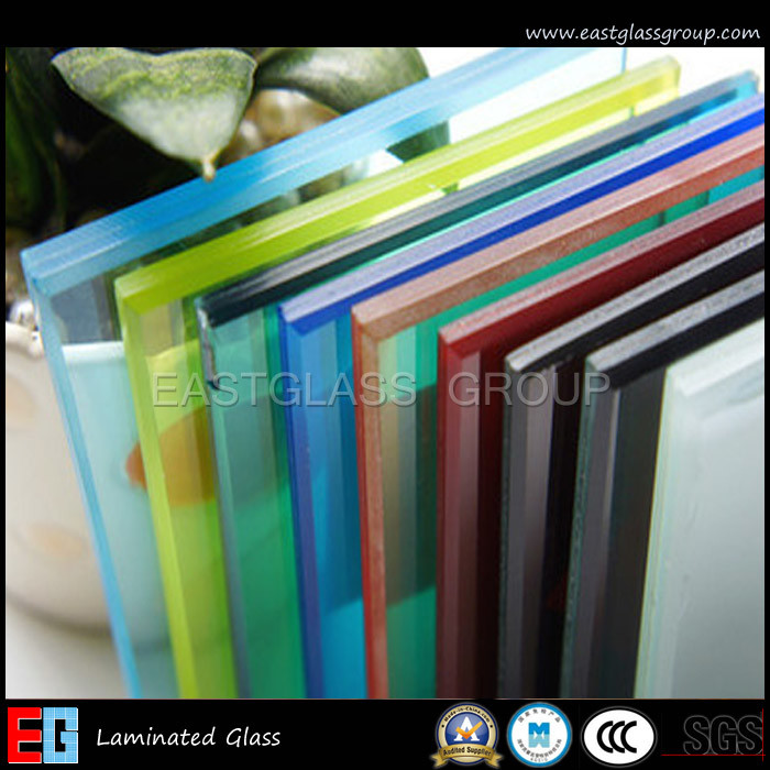 Clear/ Milky/ Blue/Grey/ Red/Yellow/ Color Laminated Glass