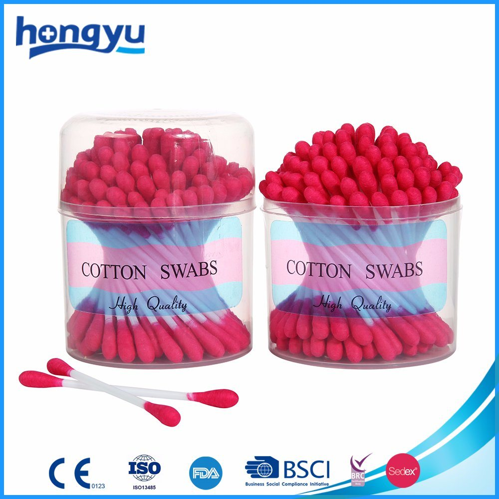 100 PCS Orange Color Cotton Buds Manufacturer