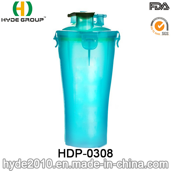 700ml Newly BPA Free Plastic Protein Shaker Bottle, PP Shaker Bottle (HDP-0308)
