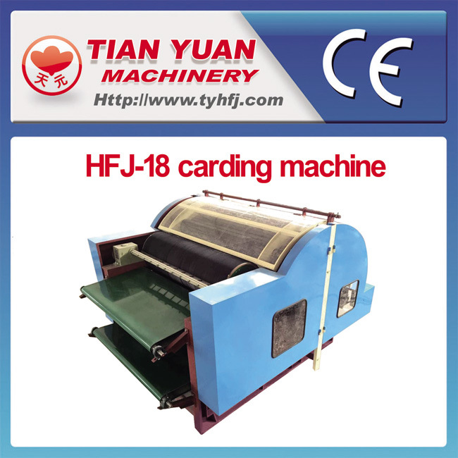Nonwoven Without Dust Fiber Cotton Sheep Wool Carding Machine