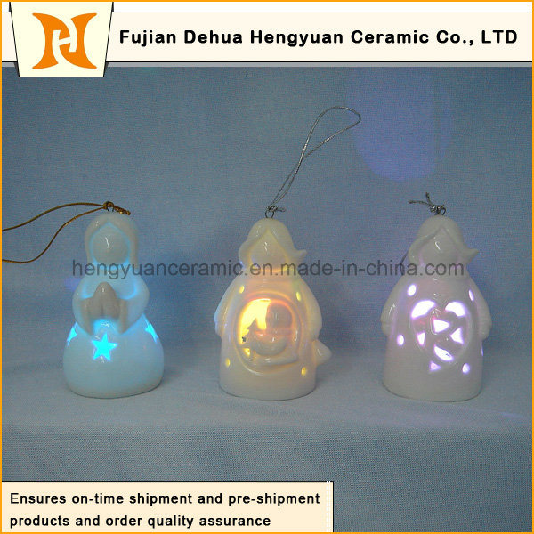 Christmas Tree Pendant Lamp, Ceramic Santa Claus Pendants for The Christmas Tree