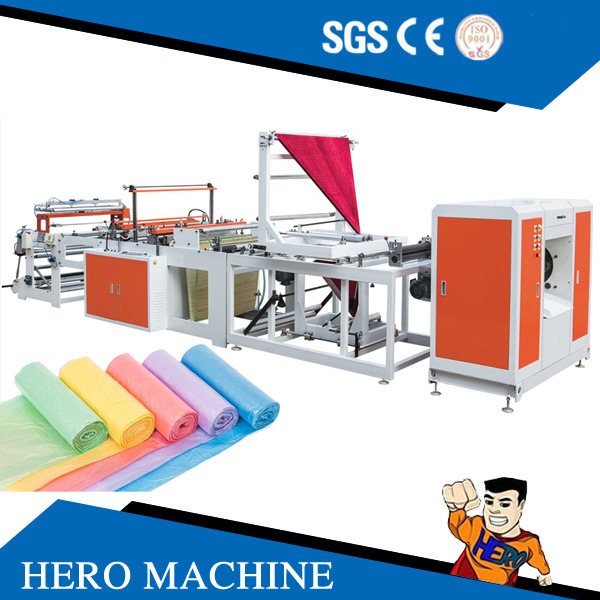 Hero Brand Computer Control High-Speed Double Layer Vest Rolling Bag-Making Machine (DZB500-800)