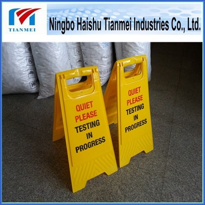 Customized Printing Text Floor Sign, Plastic Notice Sign, Warning Sign