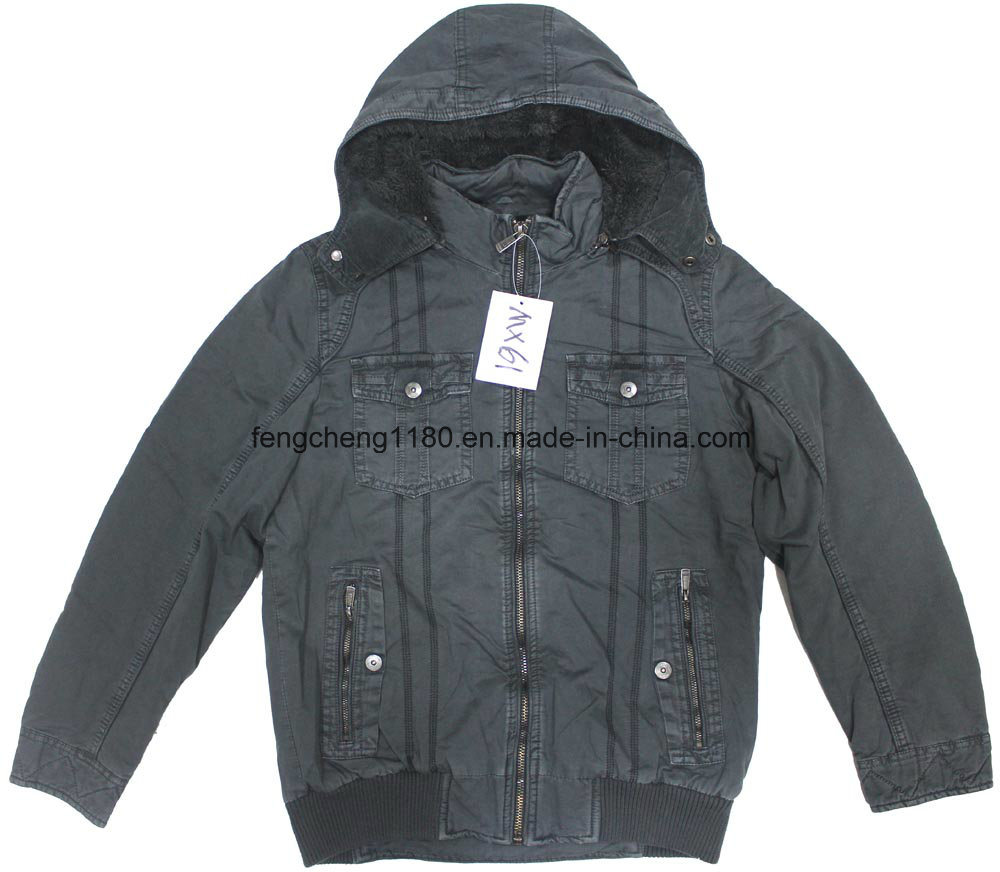Man Winter Garment Dyed Jacket / Coat