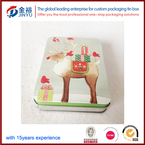 Hot Sale Special Shape Chritmas Cookie Tin Box