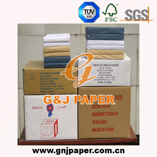 White Sulphite Wrap Paper Used on Food Wrapping (Hands Drying)