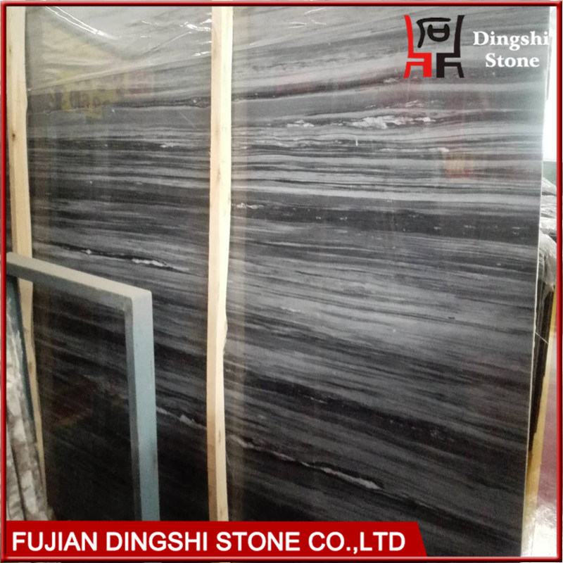 Blue Wood Vein Marble for Hotel Flooring/Wall Cladding Slab