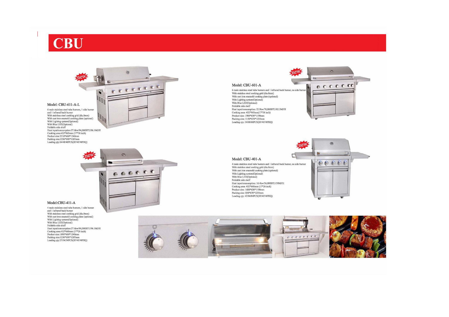 Outdoor Kitchen Gas BBQ Grill
