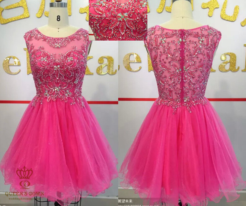New Design Heavy Beaded Ladies Party Cocktail Dresses Wedding Prom Evening Dresses