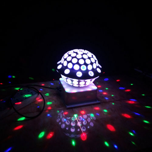 New UFO Crystal Rotating LED Ball Light