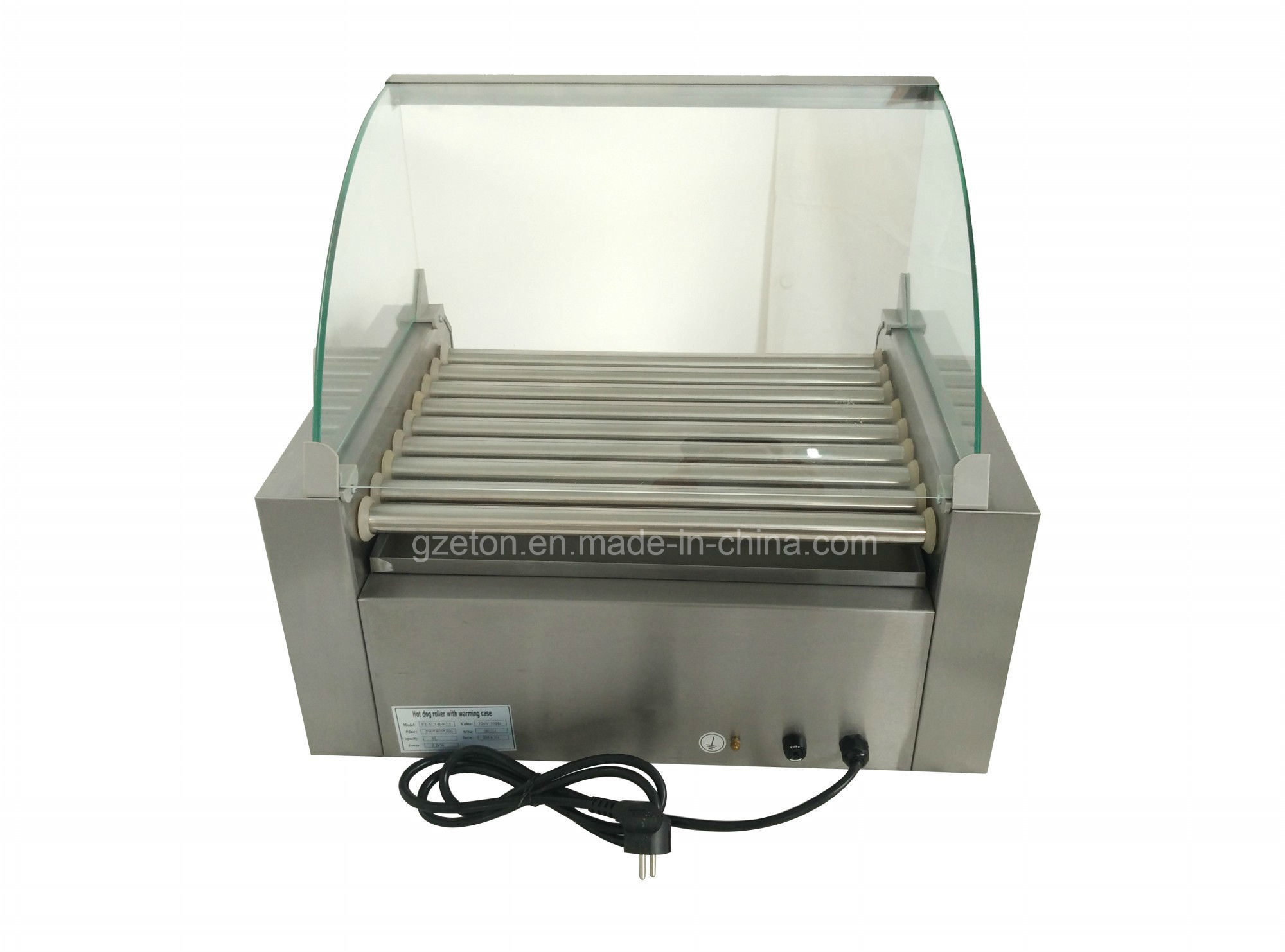 CE Approved 9 Roller Hot-Dog Maker with Warming Case