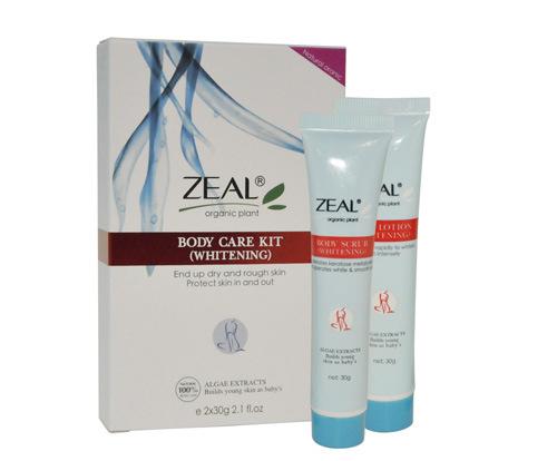 Zeal Skin Care Whitening Body Scrub & Lotion 30ml+30ml