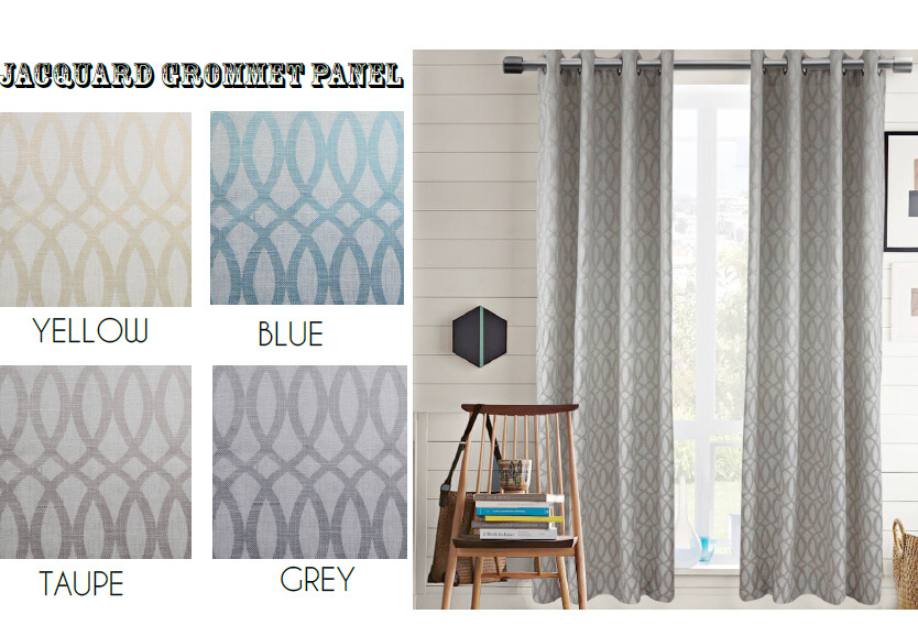 Vanessa Curtain Jacquard Grommet Panel