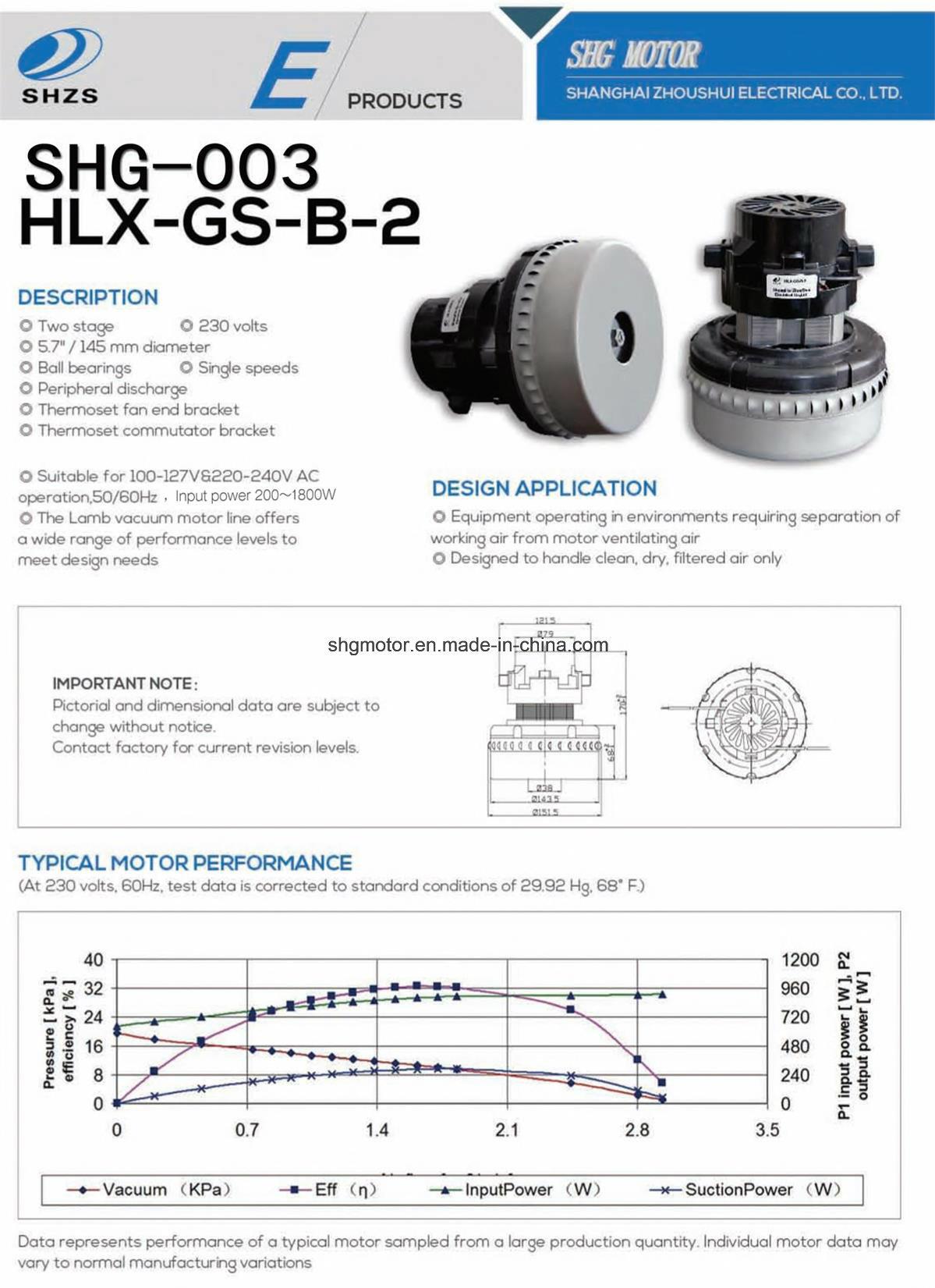 High Quality Vacuum Motor (SHG-003)