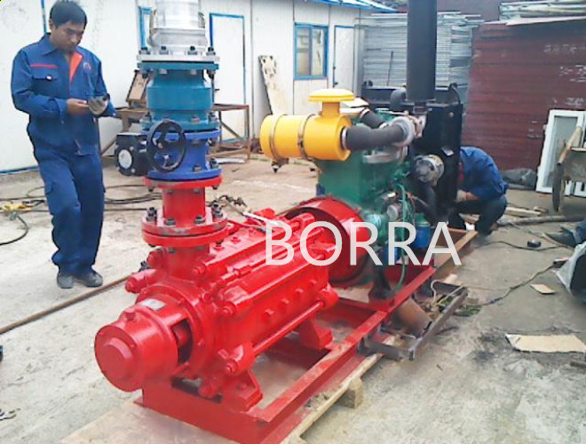 Multistage High-Pressure Fire Figting Diesel Water Pump