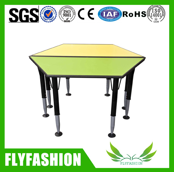 Trapezoidal Children Table, Adjustable Kids Study Table (SF-41C)