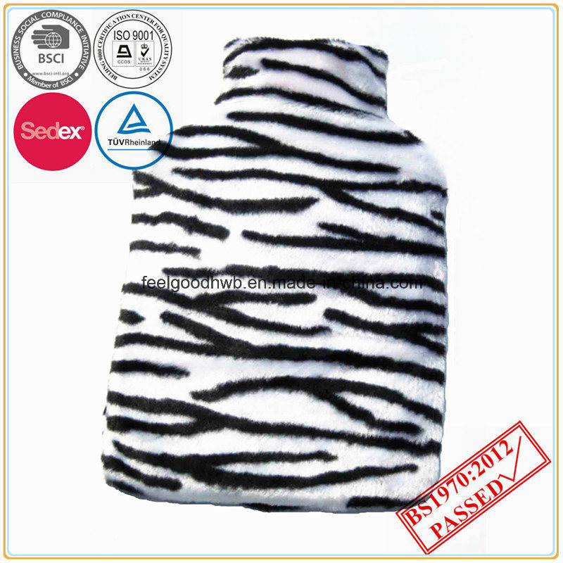 BS Standard Hot Water Bottle Animal Design Fur Cover