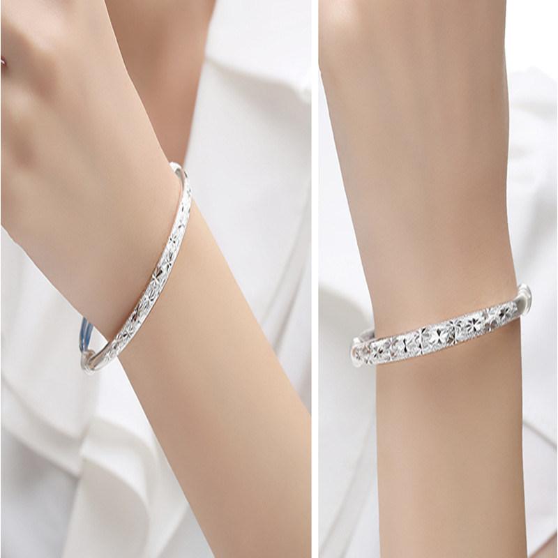 All Over The Sky Star Silver Bracelets, 999 Silver Bracelet for Women