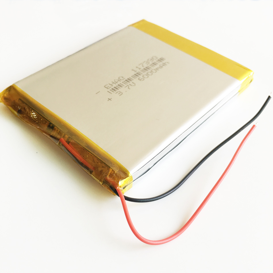 "3.7V 6000mAh Lithium Polymer Combine Lipo Rechargeable Battery for Pad GPS PSP DVD Power Bank 7"" 9"" Tablet PC Naptop 117390"
