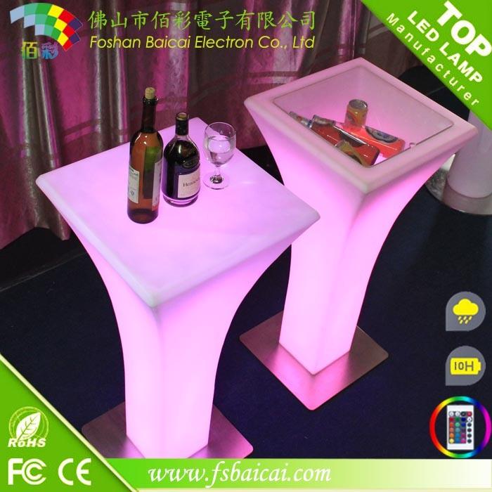 Illuminated LED Glow Bar Table, LED Outdoor Table