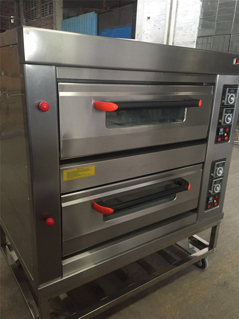 2 Deck 4 Trays Electric Deck Oven