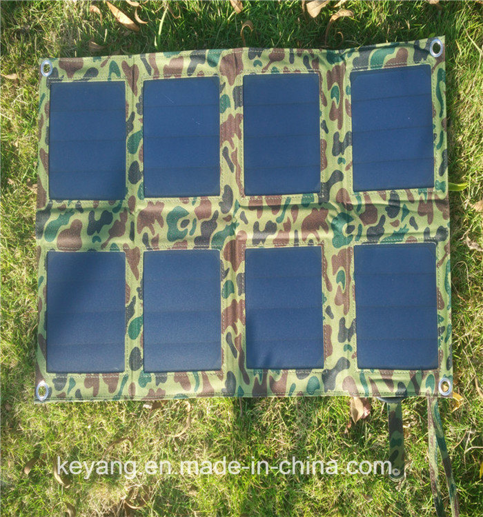 25W Foldable Solar Panel Power Battery Charging Bag for Travel/ Camping