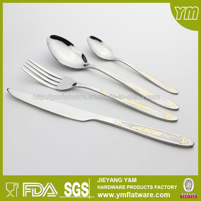 International Gold Plating Cutlery for Gift Promotion
