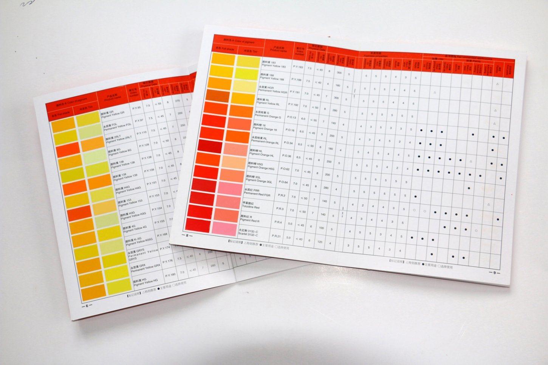 Wall Paint Color Shade Chart Brochure
