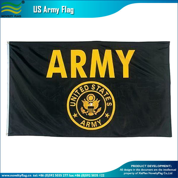 Army Gold and Black Flag United States Military Banner Us Pennant New (J-NF07F0204578)