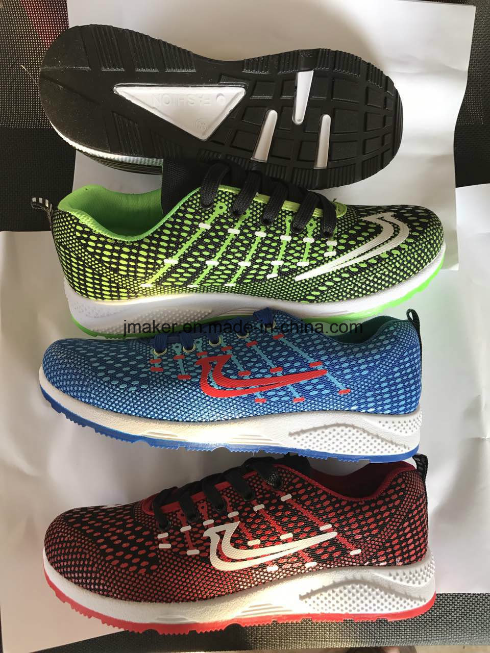 High Quality New Design Low Price Flyknit Man Confort Sports Shoes