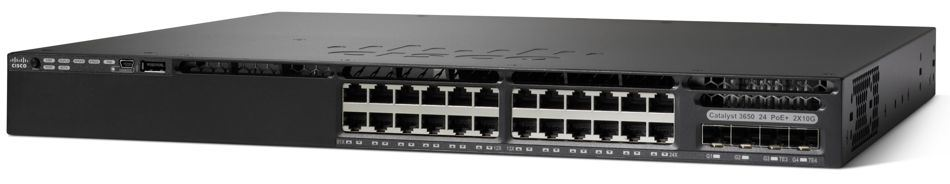 New Cisco 24 Port Poe Gigabit Ethernet Network Switch (WS-C3650-24PD-S)