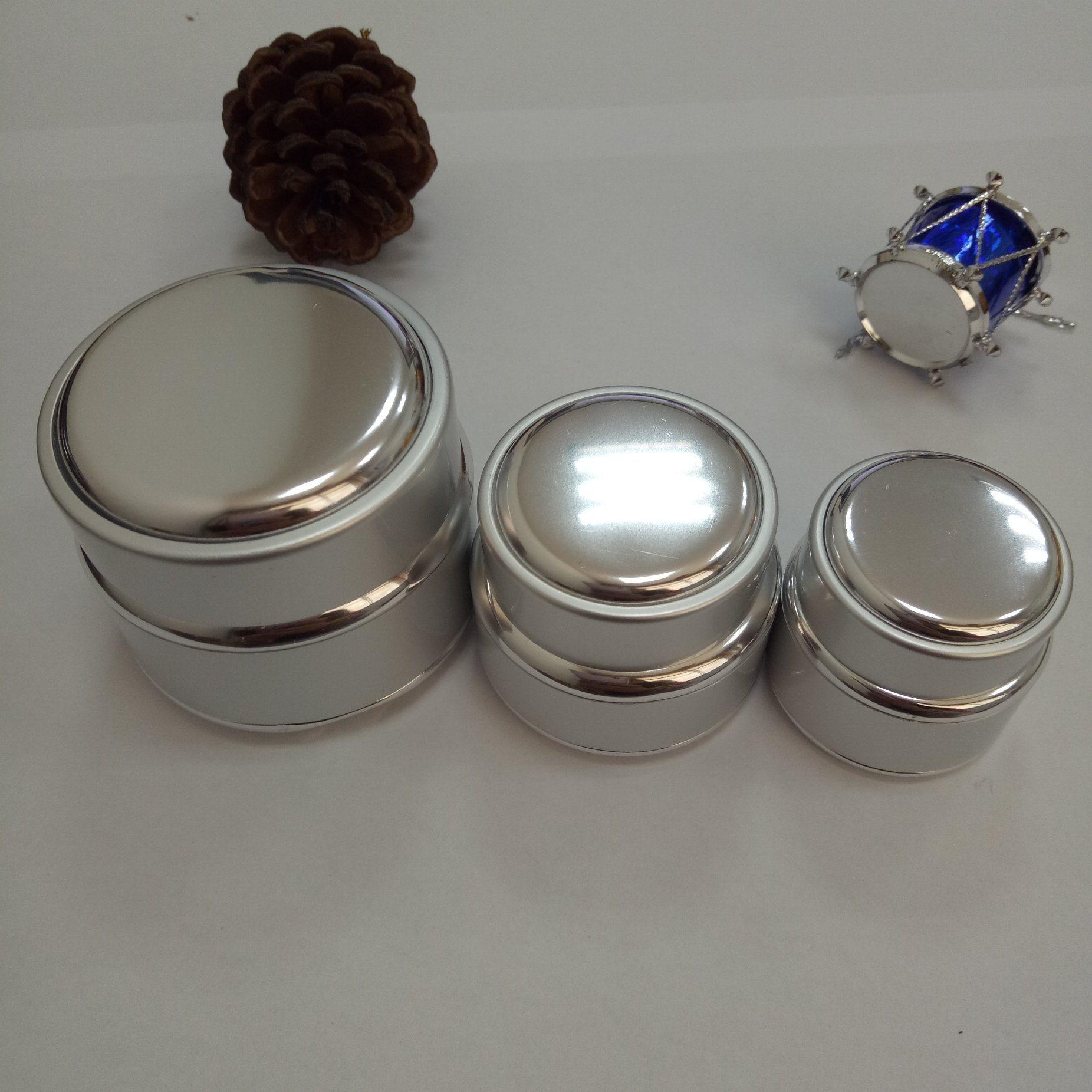 Gel Cream Packing Aluminum Sheathed Glass Jars