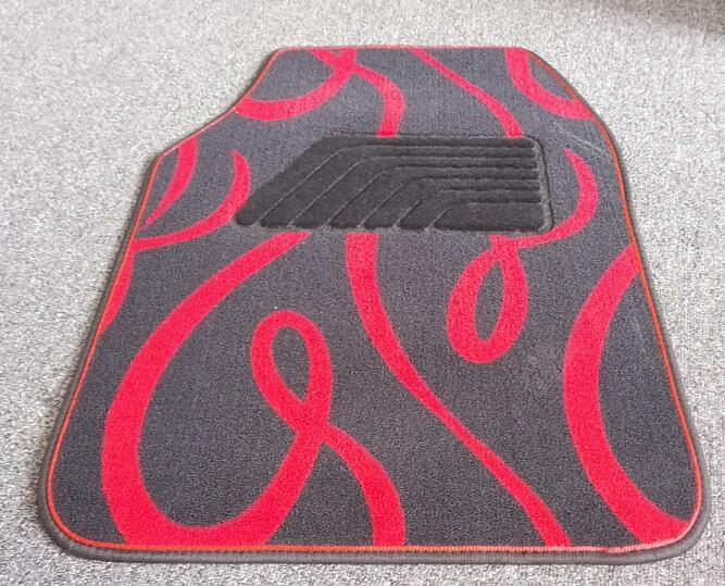 Anti Slip Carpet Flat Foot Car Mats with Ribbon Pattern