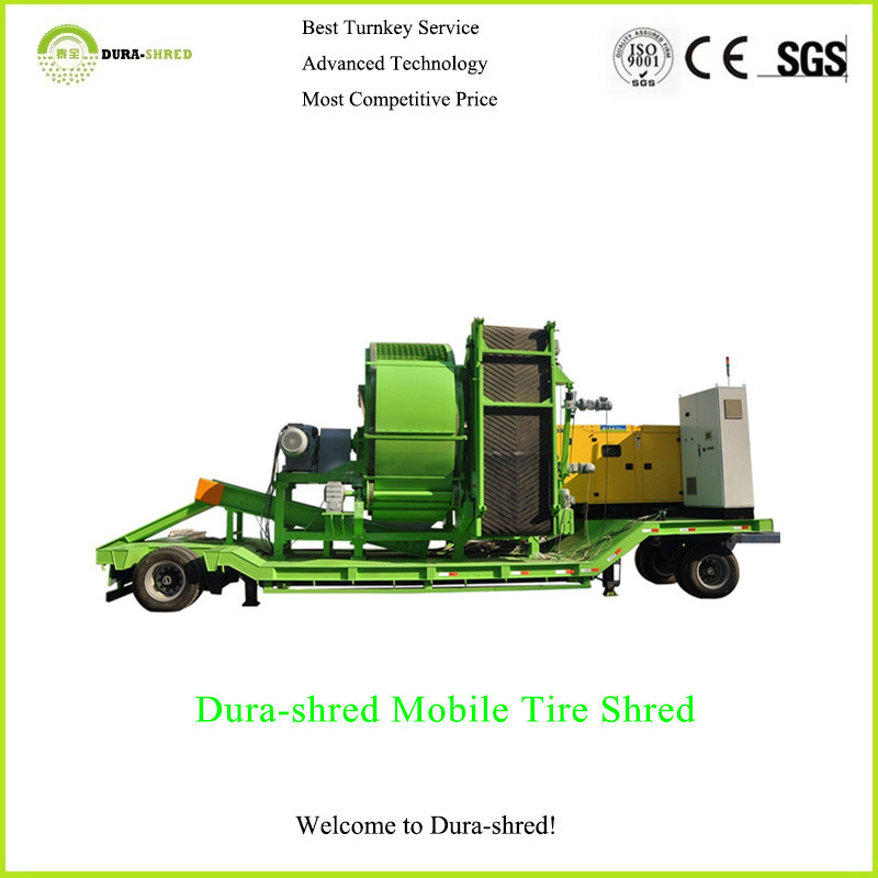 Hot Sale! Dura-Shred Rubber Chips Portable Waste Tire Recycling Machine