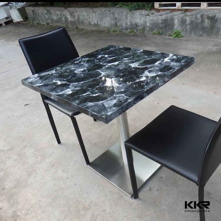 Solid Surface Stone Restaurant Fast Food Tables (170506)