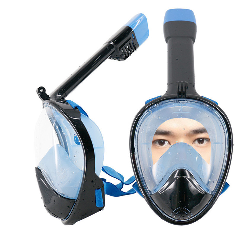 2017 New Full Face Snorkeling Diving Masks 180 Degree Wide Viewing