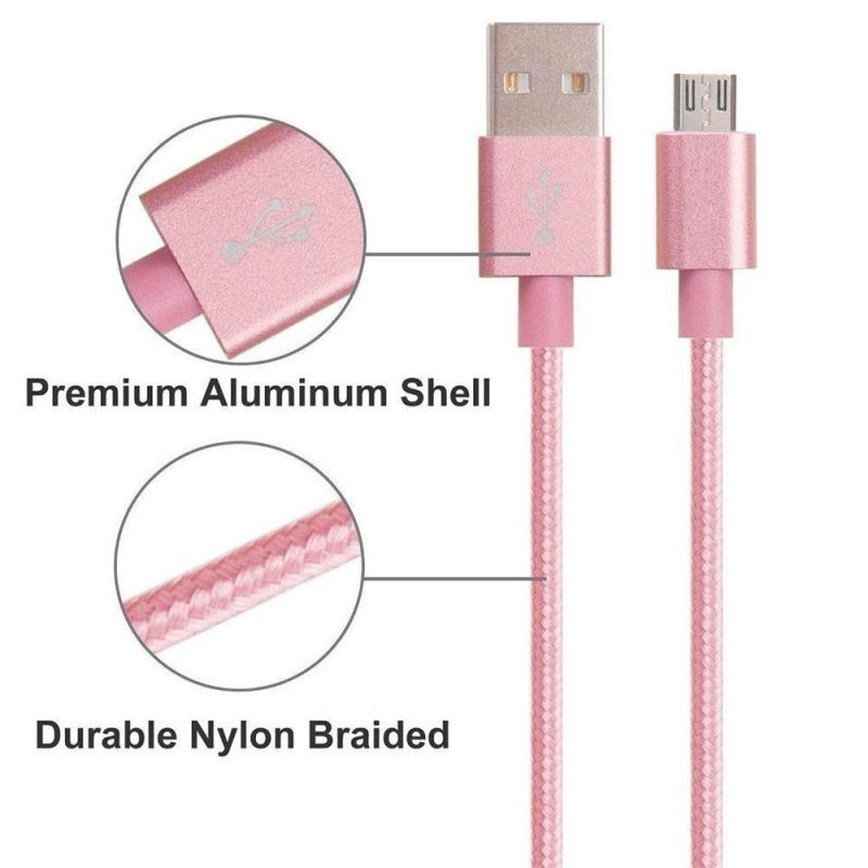 Nylon Insulated 8 Pin Lightning USB Cable for iPhone, iPad, iPod, Samsung Phone