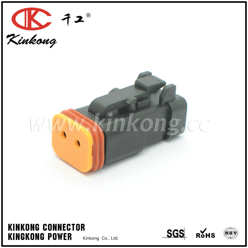 2 Pin Female Black Dt Series Sealed Automotive Connector Dt06-2s-E005