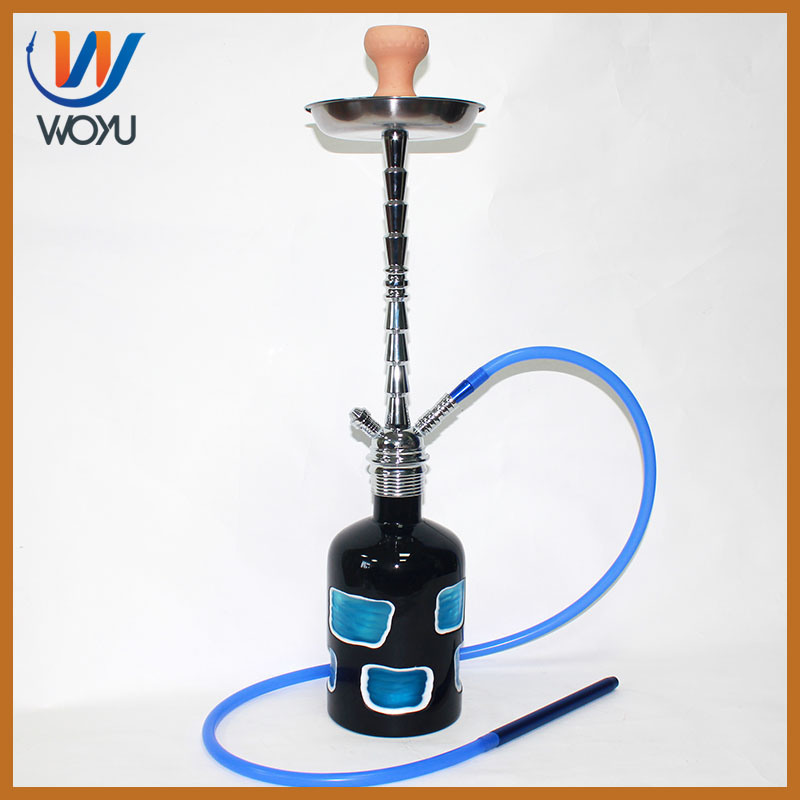 High Quality Screw Stem Mouth Design Artificial Hookah Bottle