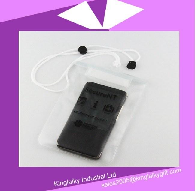 PVC Neck Strap Waterproof Bag for Promotion