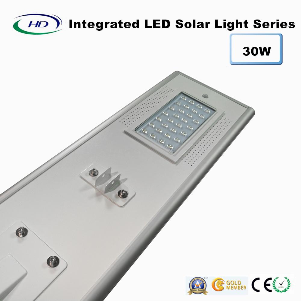 30W PIR Sensor Integrated LED Solar Garden Light