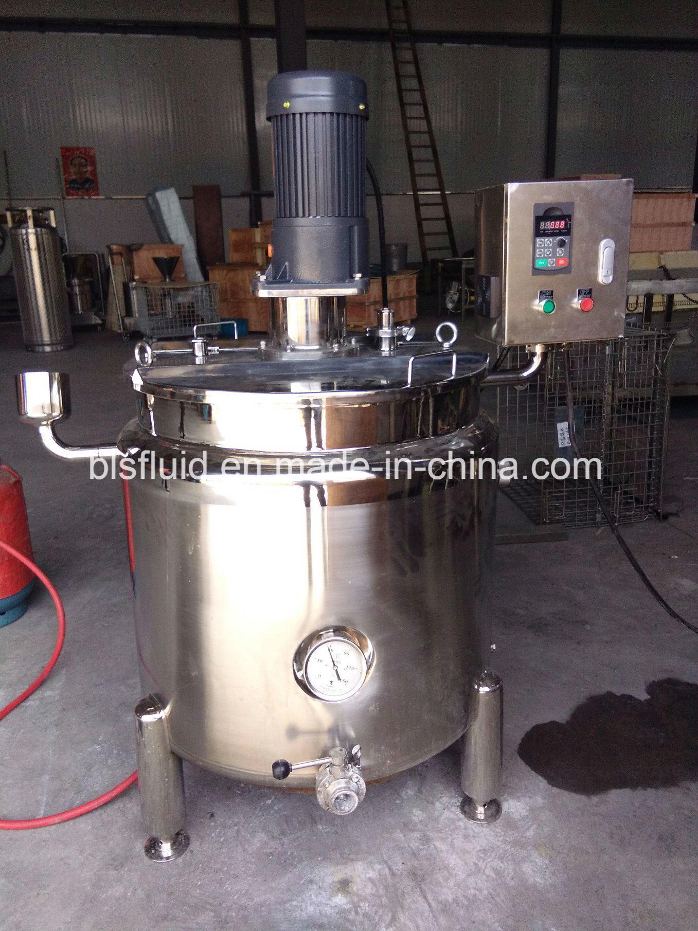 Industrial Stainless Steel 200L LPG Double Jacket Mixer Milk Boiler