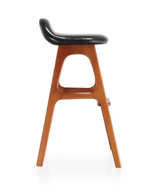 Solid Wood Seating Rustic Leather Barstool