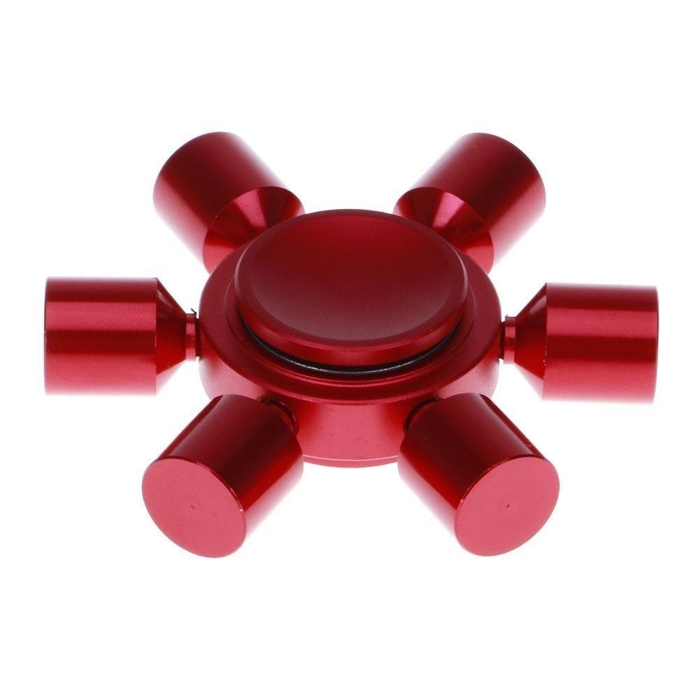 Fingertips Spiral 6 Horn Metal Hand Spinner Gyro Finger Gyroscopes