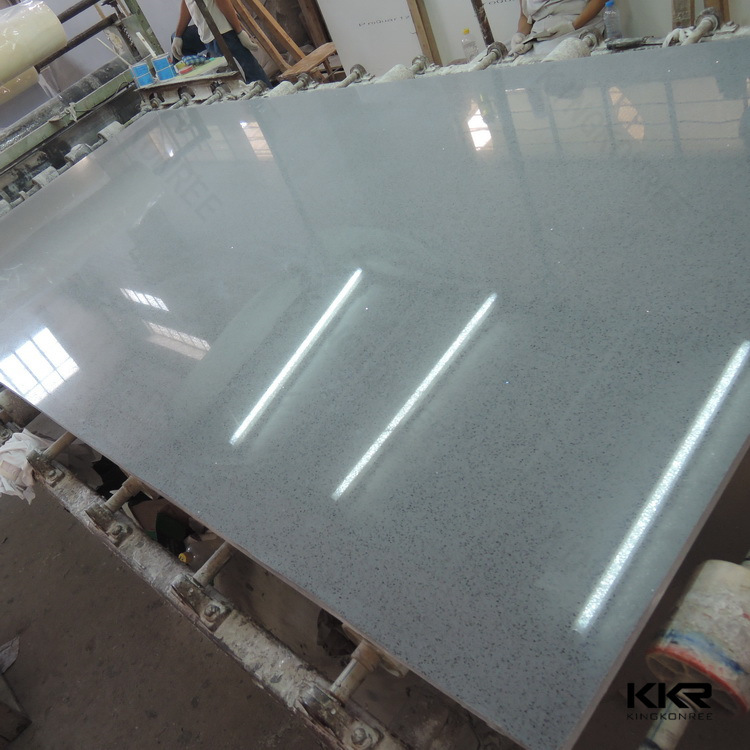 Black Grain Sparkle Marble Quartz Stone with Ce SGS