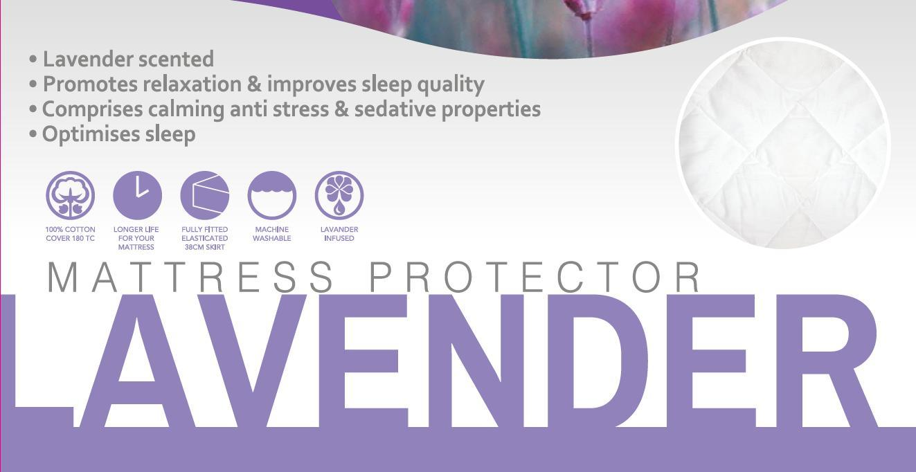 Lavender Treatment Quilted Super Soft Luxury Mattress Pad