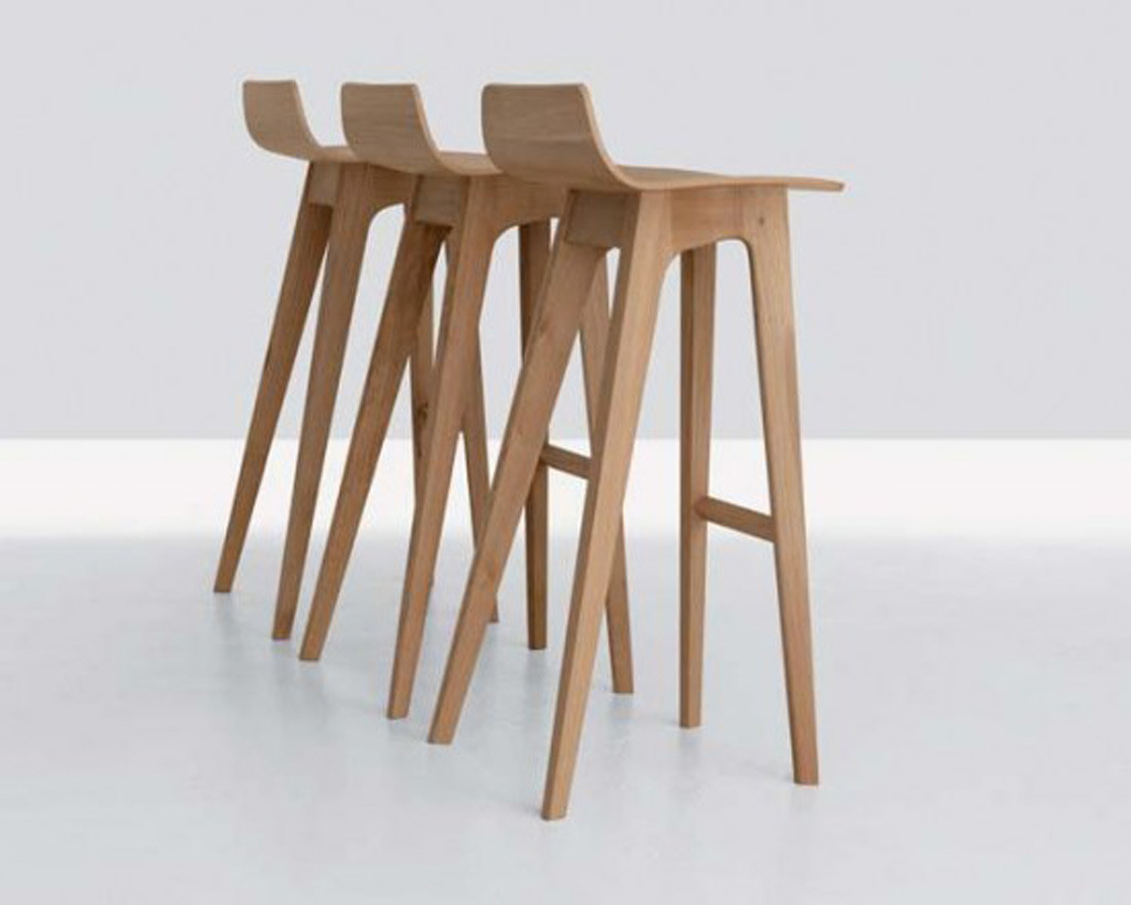 Modern Solid Wood Morph Bar Stool
